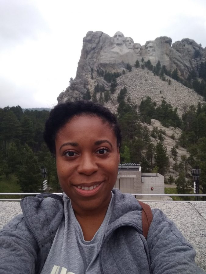 Omaha South's psychologist, Kayleta Adams, practices many healthy habits to maintain her mental wellness, including traveling to places like Mount Rushmore.